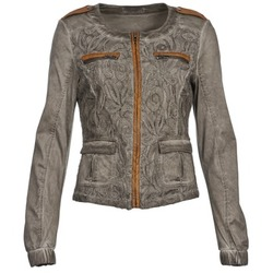 material Women Jackets / Blazers Cream SPORTY Taupe