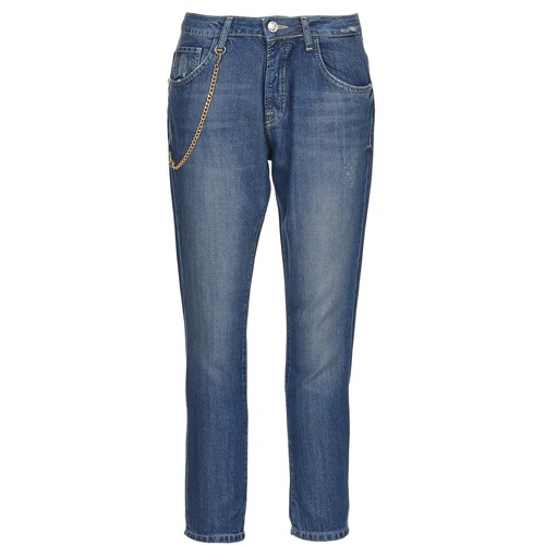 material Women straight jeans Gaudi AANDALEEB Blue / Medium