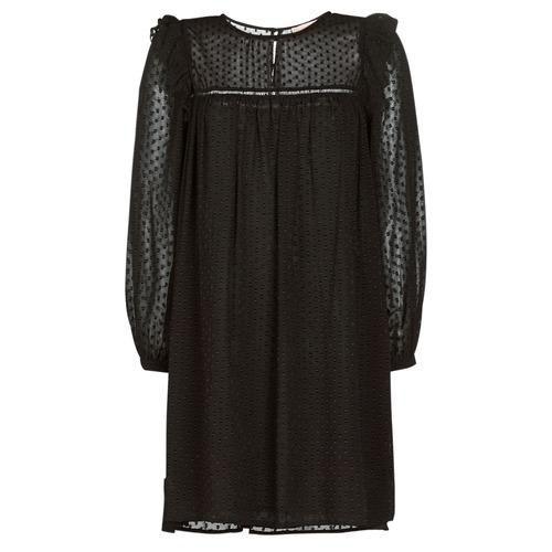 material Women Short Dresses Moony Mood BREYAT Black