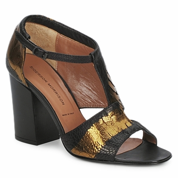 Sandals Sigerson Morrison STRUZZO Black / BRONZE 350x350