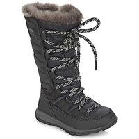 Shoes Children Snow boots Sorel CHILDREN'S WHITNEY LACE  black