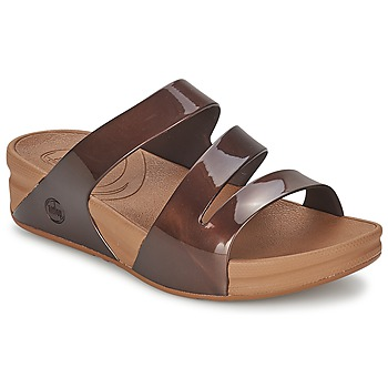 Shoes Women Mules FitFlop SUPERJELLY™ TWIST Brown