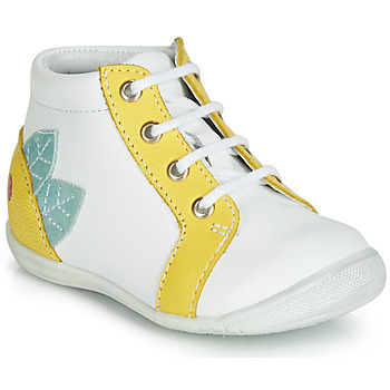 Shoes Girl High top trainers GBB FRANCKIE White / Yellow