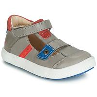 Shoes Boy Sandals GBB VORETO Grey / Blue / Red