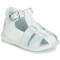 Shoes Girl Sandals GBB GASTA White / Silver