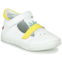 Shoes Girl High top trainers GBB ARAMA Vte / Valkoinen - keltainen