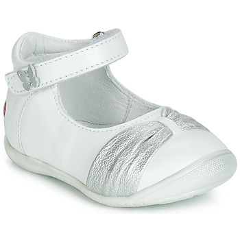 Shoes Girl Ballerinas GBB MALLA White / Silver