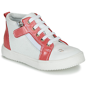 Shoes Girl High top trainers GBB MIMOSA Vte / Coral white