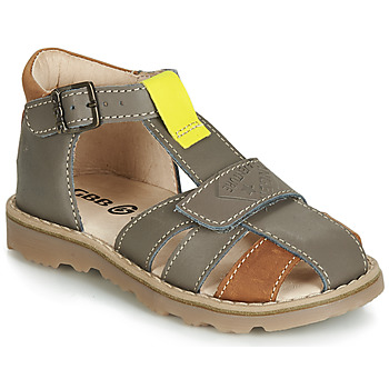 Shoes Boy Sandals GBB LUNIVO Grey / Brown