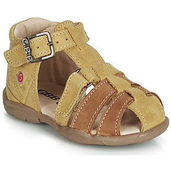 Shoes Boy Sandals GBB PRIGENT Grey / Mustard