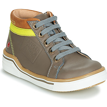 Shoes Boy High top trainers GBB QUITO Grey / Yellow