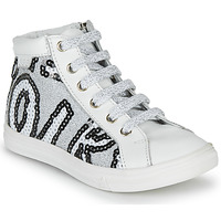Shoes Girl High top trainers GBB MARTA White / Silver