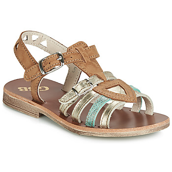 Shoes Girl Sandals GBB FANNI Cognac / Gold