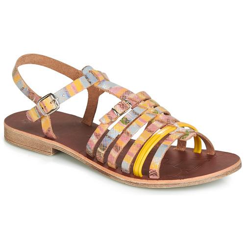 Shoes Girl Sandals GBB BANGKOK Multicolour / Yellow
