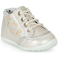 Shoes Girl High top trainers Catimini BALI Vte / Silver-beige