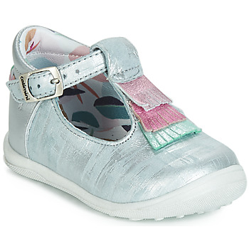 Shoes Girl Ballerinas Catimini BIMA Vte / Blue / Silver