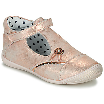 Shoes Girl Ballerinas Catimini SANTA Pink / Gold