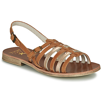 Shoes Girl Sandals Catimini NOBO Cognac / Gold