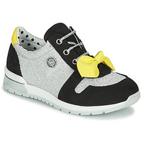 Shoes Girl Low top trainers Catimini BANJO Silver / Black