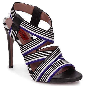 Shoes Women Sandals Missoni RM19 Blue / White