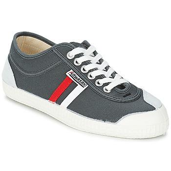 Shoes Men Low top trainers Kawasaki RETRO CORE Grey / Red / White / Striped