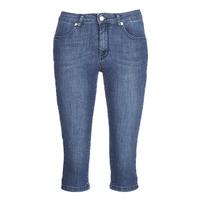 material Women cropped trousers Yurban JATARA Blue / Medium