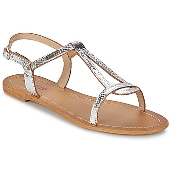 Shoes Women Sandals Les Tropéziennes par M Belarbi HAMAT Silver / Serpent