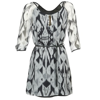 material Women Short Dresses One Step ROSASITE Grey / White