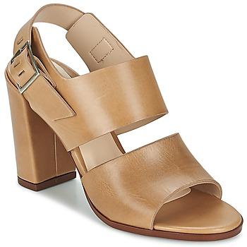 Shoes Women Sandals Dune CUPPED BLOCK HEEL SANDAL Beige