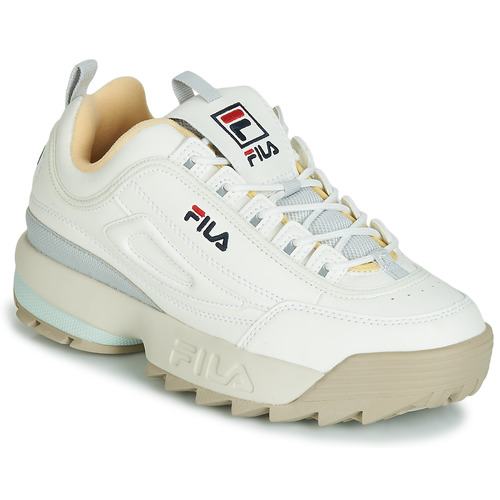 aa93d60bab6 Fila DISRUPTOR CB LOW WMN White   Grey - Fast delivery with Spartoo ...