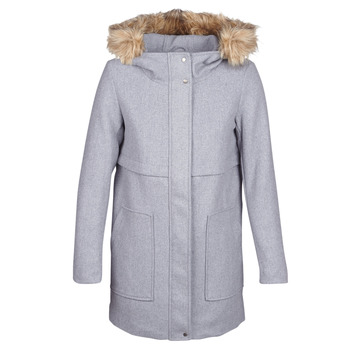 material Women coats Only ONLNOAH Grey