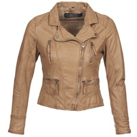 material Women Leather jackets / Imitation leather Oakwood 60862 COGNAC