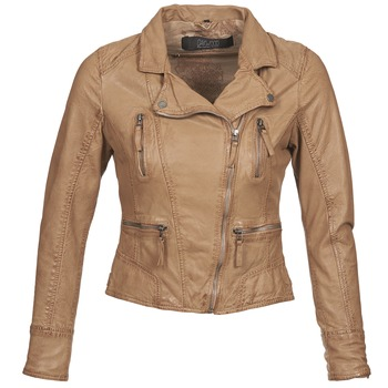 material Women Leather jackets / Imitation leather Oakwood CAMERA Cognac