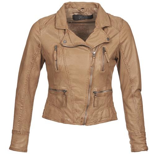material Women Leather jackets / Imitation leather Oakwood CAMERA Cognac