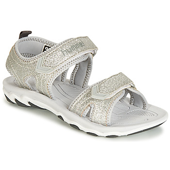 Shoes Girl Sandals Hummel SANDAL GLITTER JR Silver
