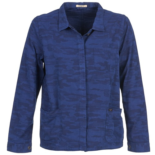 material Women Jackets / Blazers Lee CAMO Blue