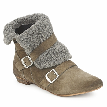 Shoes Women Mid boots Bronx CREPOU Brown / Grey