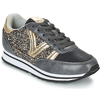Shoes Women Low top trainers Victoria COMETA GLITTER Black