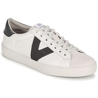 Shoes Men Low top trainers Victoria BERLIN PIEL CONTRASTE White / Grey