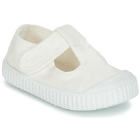 Shoes Children Ballerinas Victoria SANDALIA LONA TINTADA White