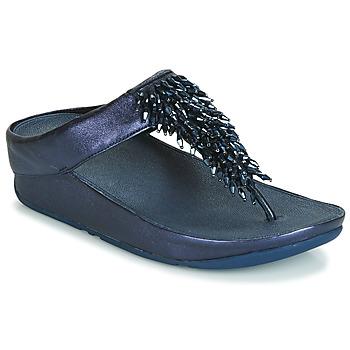 Shoes Women Flip flops FitFlop RUMBA TOE THONG SANDALS Blue
