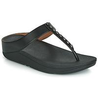 Shoes Women Flip flops FitFlop FINO TREASURE Black