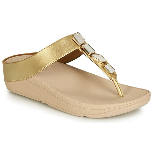 b7cb9893838 FitFlop FINO SHELLSTONE Gold - Fast delivery with Spartoo Europe ...