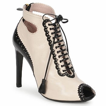 Shoes Women Low boots Moschino MA1602A Beige