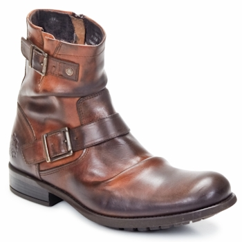 Shoes Men Mid boots Base London METAL Tan