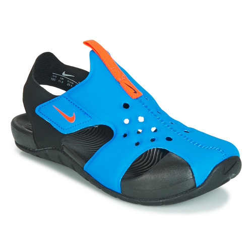 Shoes Children Sandals Nike SUNRAY PROTECT 2 PS Black / Blue